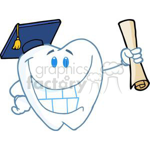 2968-Successful-Graduate-Tooth-Holding-A-Diploma clipart. Commercial use image # 380534
