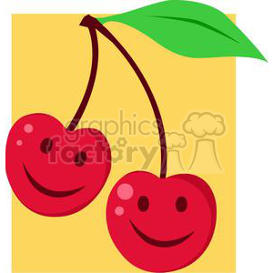 2874-Red-Cherrys-Cartoon-Characters clipart. Commercial use image # 380544