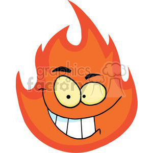 cartoon fireball clipart. Royalty-free image # 380549