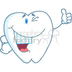 2941-Smiling-Tooth-Cartoon-Character clipart. Royalty-free image # 380559