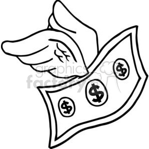 3299-Flying-Dollar clipart. Royalty-free image # 380568