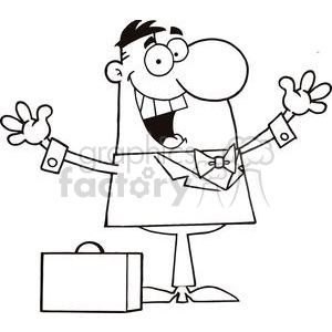 3193-Happy-Businessman clipart. Royalty-free image # 380578