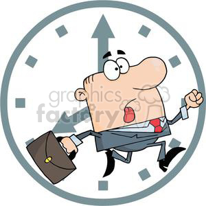 Businessman Being Late clipart. Commercial use image # 380603