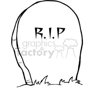 cartoon vector occassions funny Halloween October scary grave RIP tombstone tombstones black white