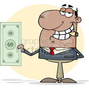 3192-African-American-Businessman-Shows-Big-Dollar clipart. Royalty-free image # 380663