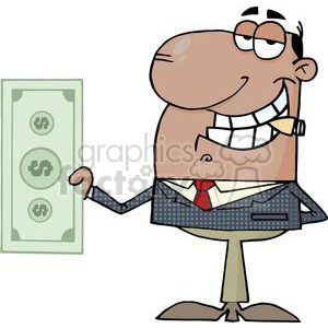 Businessman Shows Big Dollar clipart. Royalty-free image # 380673