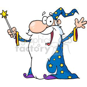 cartoon wizard clipart. Royalty-free image # 380708