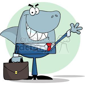 cartoon vector occassions funny business work working people corporate corporations Shark Sharks sneaky deceitful deceit