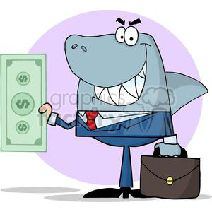 3278-Business-Shark-Holding-Cash clipart. Royalty-free image # 380763