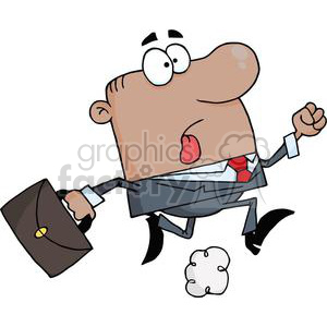 3243-African-American-Businessman-Wearing-A-Business-Suit-And-Carrying-A-Briefcase-To-Work clipart. Royalty-free image # 380768