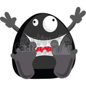 Freddy the black little monster clipart. Royalty-free image # 380798