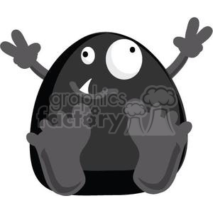 Freddy the silly little monster clipart. Royalty-free image # 380808