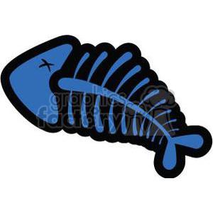 blue fish bones