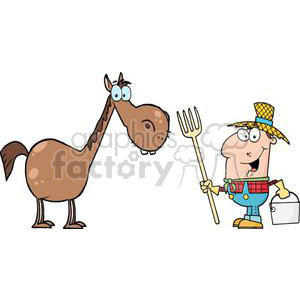 3371-Male-Farmer-With-Horse animation. Royalty-free animation # 380819