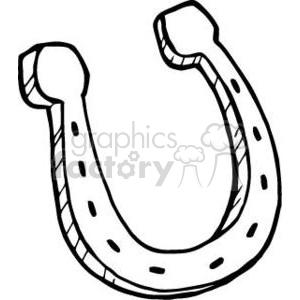 black and white cartoon horseshoe clipart. Royalty-free image # 380834