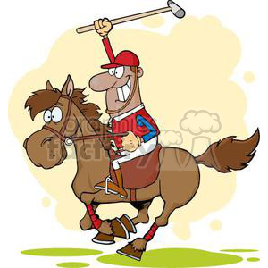 3379-African-American-Polo-Player clipart. Royalty-free image # 380844