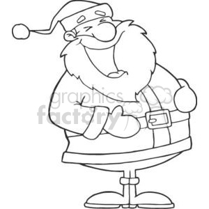 3423-Laughing-Santa-Claus clipart. Royalty-free image # 380854