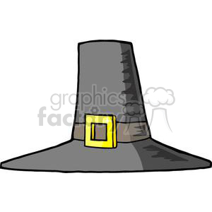 cartoon Pilgrim hat clipart. Royalty-free image # 380869