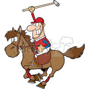 3376-Cartoon-Polo-Player clipart. Royalty-free image # 380879