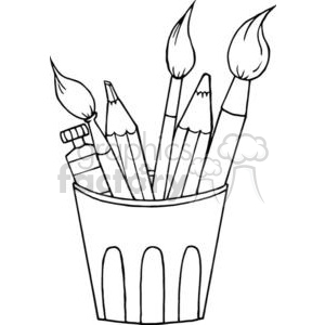 art supplies clipart. Royalty-free image # 380884