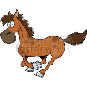cartoon horse running clipart. Commercial use image # 380894