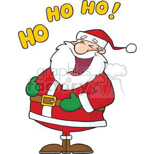 laughing Santa Claus Ho Ho Ho clipart. Commercial use image # 380914