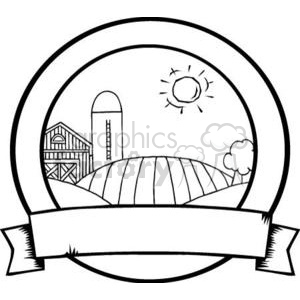 3496-Country-Farm-Banner clipart. Royalty-free image # 380979