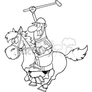 cartoon Polo player clipart. Commercial use image # 381014