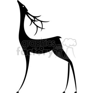 Christmas Holidays cartoon deer reindeer reindeers black+white christmas silhouette animal vinyl-ready deers