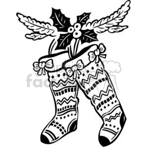Christmas stockings clipart. Royalty-free image # 381053