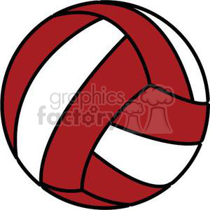 red volleyball clipart. Royalty-free image # 381188