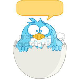 3644-Happy-Blue-Bird clipart. Commercial use image # 381215