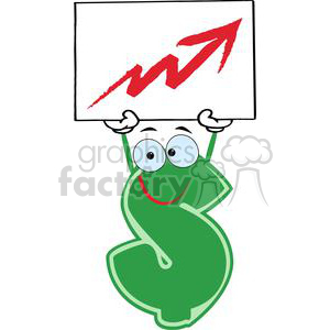 3637-Green-Dollar-Cartoon-Character clipart. Commercial use image # 381220