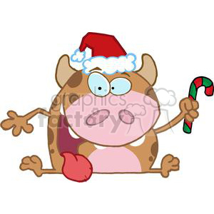 Happy-Calf-Character clipart. Commercial use image # 381230