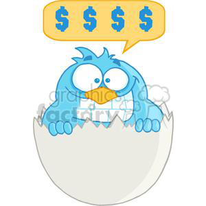 3647-Happy-Blue-Bird clipart. Royalty-free image # 381255
