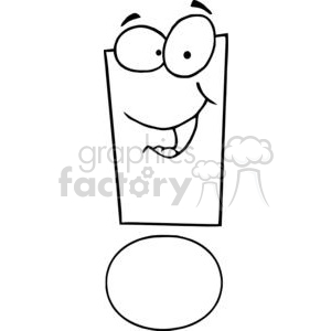 Exclamation-Mark-Cartoon-Character clipart. Royalty-free image # 381270
