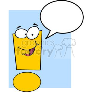 3632-Exclamation-Mark-Cartoon-Character clipart. Royalty-free image # 381275