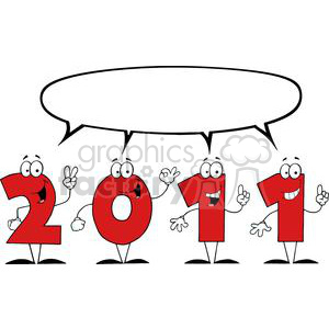 3815-2011-Year-Cartoon-Character clipart. Commercial use image # 381310