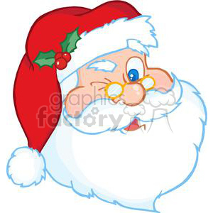 3850-Santa-Claus-Winking clipart. Commercial use image # 381325