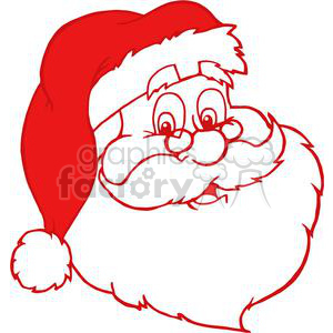 red Santa Claus outline clipart. Commercial use image # 381425