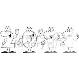 2011-Year-Cartoon-Character clipart. Royalty-free image # 381430