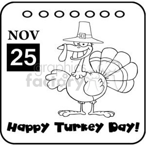 Thanksgiving Holiday Calendar clipart. Royalty-free image # 381465
