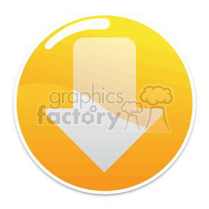 yellow circle button clipart. Royalty-free image # 381610