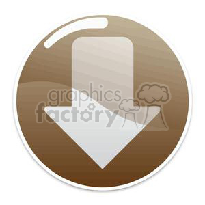 brown download button clipart. Royalty-free image # 381615