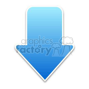 download-arrow-1-blue clipart. Royalty-free image # 381620