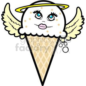 ice+cream ice+cream+cone Holy snacks food cone cartoon funny fun yum yummy dessert vanilla angel angels heaven religion