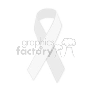 white support ribbon clipart. Royalty-free image # 381640