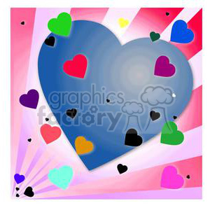 colorful hearts clipart. Commercial use image # 381680