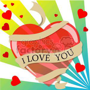 heart hearts Valentine Valentines love relationship relationships vector cartoon ribbon ribbons I love you