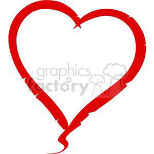 red heart clipart. Commercial use image # 381690